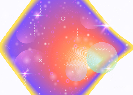 Galaxy background with cosmos and universe shapes and star dust. 3d fluid with magic sparkles. Holographic futuristic gradients. Fantastic space landscape with planets. Memphis galaxy background. 일러스트