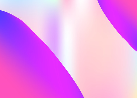 Fluid shape. Holographic 3d backdrop with modern trendy blend. Vivid gradient mesh. Neon magazine, presentation layout. Fluid shape background with liquid dynamic elements.