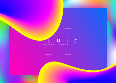 Landing page. Vibrant ui, screen layout. Vivid gradient mesh. Holographic 3d backdrop with modern trendy blend. Landing page with liquid dynamic elements and fluid shapes. 일러스트