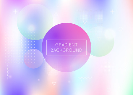 Bauhaus background with liquid shapes. Dynamic holographic fluid with gradient memphis elements. Graphic template for flyer, ui, magazine, poster, banner and app. Neon bauhaus background.