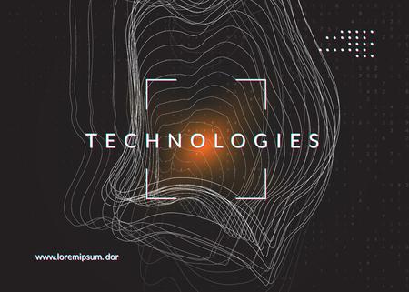Contexte d'apprentissage en profondeur. Technologie pour les mégadonnées, la visualisation, l'intelligence artificielle et l'informatique quantique. Modèle de conception pour le concept de communication. Toile de fond d'apprentissage en profondeur colorée.