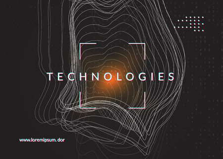 Deep learning background. Technology for big data, visualization, artificial intelligence and quantum computing. Design template for communication concept. Colorful deep learning backdrop. Foto de archivo