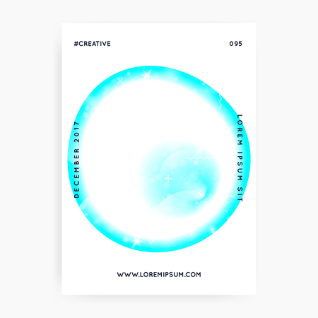 Music poster. Fluid holographic gradient shape and line. Abstract brochure design for techno show. Electronic sound. Night lifestyle dance holiday. Music poster and flyer for summer fest.
