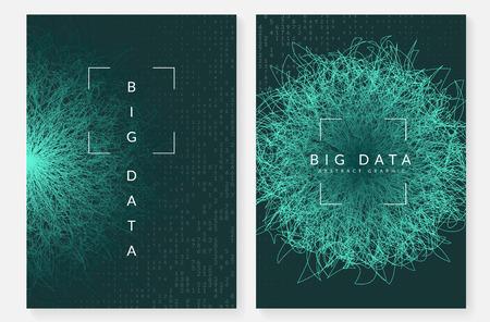 Fond de données volumineuses. Technologie pour la visualisation, l'intelligence artificielle, l'apprentissage en profondeur et l'informatique quantique. Modèle de conception pour le concept sans fil. Toile de fond de données volumineuses numériques.