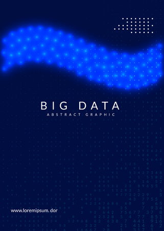 Big data background. Technology for visualization, artificial intelligence, deep learning and quantum computing. Design template for interface concept. Digital big data backdrop.