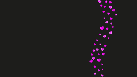 Grunge heart background for Valentines day with pink glitter. February 14th day. Vector confetti for grunge heart background. Hand drawn texture. Love theme for gift coupons, vouchers, ads, events.