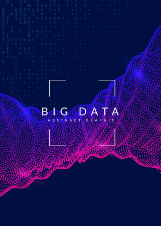 Big data background. Technology for visualization, artificial intelligence, deep learning and quantum computing. Design template for server concept. Cyber big data backdrop.