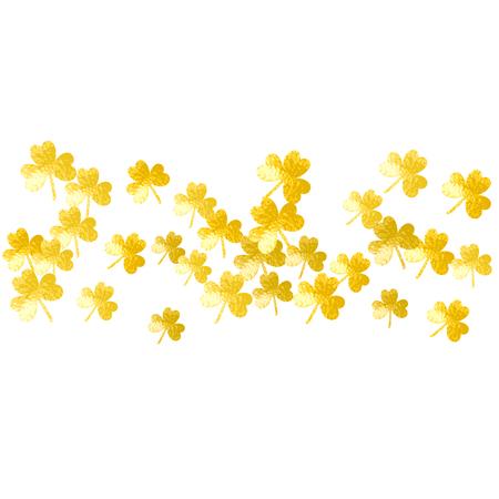 St patricks day tło z koniczyną. Szczęśliwe konfetti z koniczyny. Brokatowa ramka z liści koniczyny. Szablon zaproszenia na przyjęcie, oferty detalicznej i reklamy. Tło dekoracyjne st patricks day.
