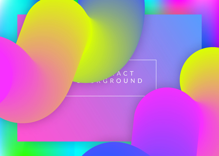 Landing page. Holographic 3d backdrop with modern trendy blend. Vivid gradient mesh. Molecular banner, app frame. Landing page with liquid dynamic elements and fluid shapes.