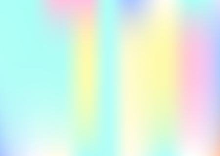 Gradient mesh abstract background. Futuristic holographic backdrop with gradient mesh. 90s, 80s retro style. Iridescent graphic template for book, annual, mobile interface, web app.