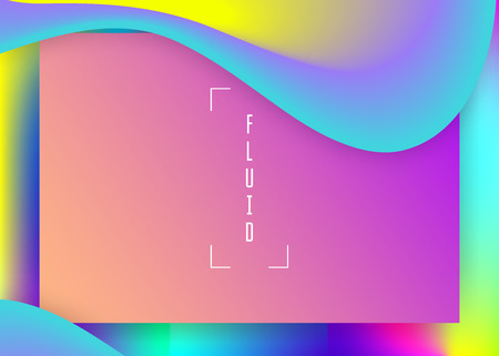 Landing page. Holographic 3d backdrop with modern trendy blend. Vivid gradient mesh. Cosmic banner, interface composition. Landing page with liquid dynamic elements and fluid shapes.