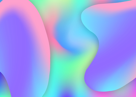 Fluid dynamic. Holographic 3d backdrop with modern trendy blend. Wavy certificate, flyer design. Vivid gradient mesh. Fluid dynamic background with liquid shapes and elements.