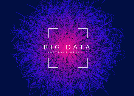 Big data background. Technology for visualization, artificial intelligence, deep learning and quantum computing. Design template for system concept. Modern big data backdrop.