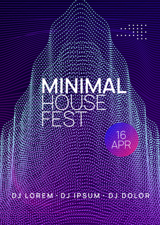 Trance party. Dynamic gradient shape and line. Trendy discotheque brochure design. Neon trance party flyer. Electro dance music. Electronic sound. Club dj poster. Techno fest event.