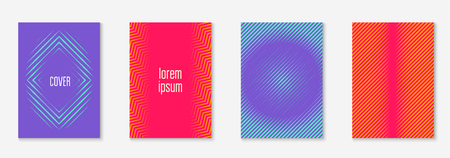 Poster design modern. Colored annual report, mobile screen, wallpaper, certificate mockup. Orange and pink. Poster design modern with minimalist geometric lines and shapes.
