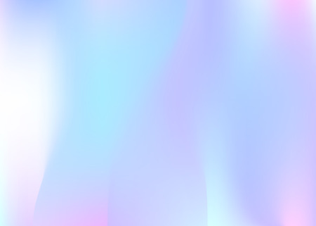 Hologram abstract background. Vibrant gradient mesh backdrop with hologram. 90s, 80s retro style. Iridescent graphic template for brochure, flyer, poster design, wallpaper, mobile screen.