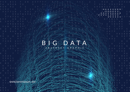Big data background. Technology for visualization, artificial intelligence, deep learning and quantum computing. Design template for energy concept. Abstract big data backdrop.