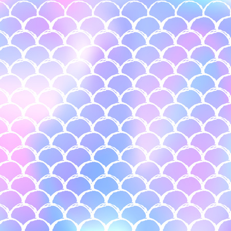 Gradient mermaid background with holographic scales. Bright color transitions. Fish tail banner and invitation. Underwater and sea pattern for girlie party. Hipster backdrop with gradient mermaid.