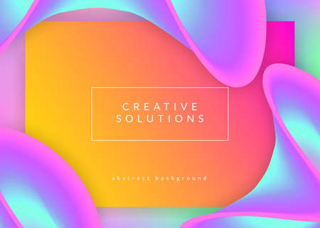 Landing page. Holographic 3d backdrop with modern trendy blend. Geometric interface, ui frame. Vivid gradient mesh. Landing page with liquid dynamic elements and fluid shapes.