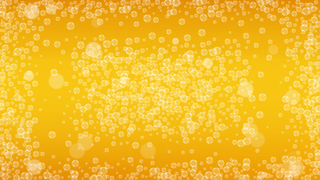 Beer foam. Craft lager splash. Oktoberfest background. bar menu template. Pour pint of ale with realistic white bubbles. Cool liquid drink for Golden jug with beer foam.
