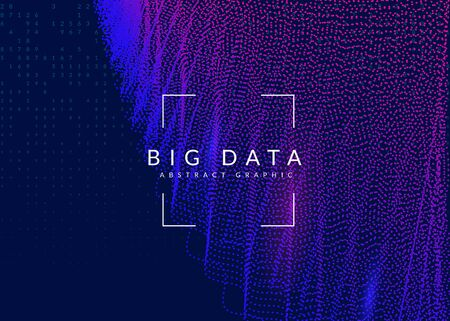 Big data background. Technology for visualization, artificial intelligence, deep learning and quantum computing. Design template for computing concept. Modern big data backdrop.