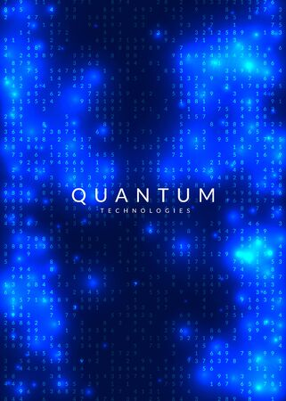 Big data background. Technology for visualization, artificial intelligence, deep learning and quantum computing. Design template for storage concept. Modern big data backdrop.