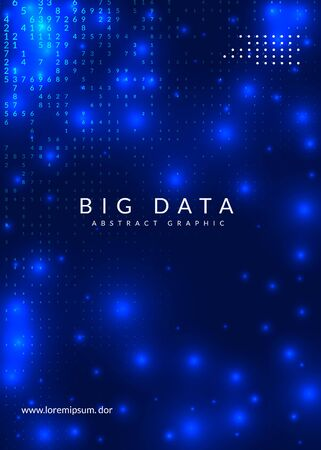 Big data background. Technology for visualization, artificial intelligence, deep learning and quantum computing. Design template for industry concept. Colorful big data backdrop.