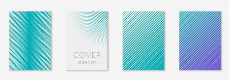 Poster design modern. Creative journal, folder, page, mobile screen mockup. Blue and purple. Poster design modern with minimalist geometric lines and shapes.