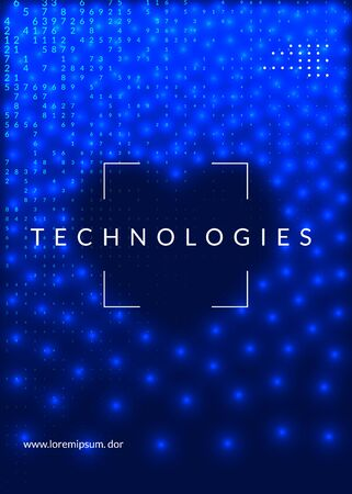 Big data background. Digital technology abstract concept. Artificial intelligence and deep learning. Tech visual for screen template. Industrial big data background. Çizim
