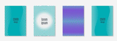 Abstract shapes cover. Simple page, flyer, notebook, certificate concept. Blue and purple. Abstract shapes cover and template with line geometric elements.