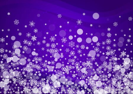 Winter frame with ultra violet snowflakes. New Year frosty backdrop. Snow border for flyer, gift card, party invite, retail offer and ad. trendy background. Holiday banner with winter frame Standard-Bild - 130779882