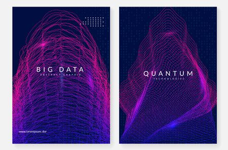 Big data abstract. Digital technology background. Artificial intelligence and deep learning concept. Tech visual for cloud template. Geometric big data abstract backdrop. 일러스트