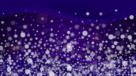 ultraviolet snowflakes. New Year backdrop. Snow frame for gift coupons, vouchers, ads, party events. Trendy background Standard-Bild - 130780126