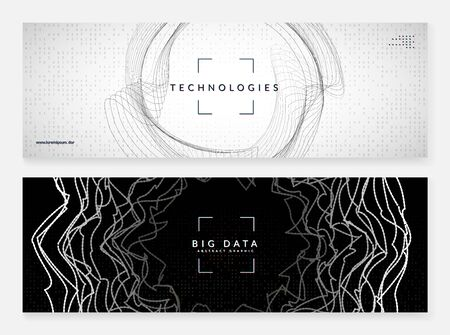 Big data abstract. Digital technology background. Artificial intelligence and deep learning concept. Tech visual for networking template. Futuristic big data abstract backdrop.