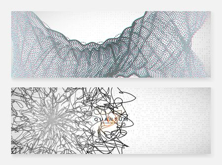 Big data learning. Digital technology abstract background. Artificial intelligence concept. Tech visual for system template. Wavy big data learning backdrop.