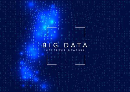 Contexte de l'intelligence artificielle. Technologie numérique, apprentissage en profondeur et concept de mégadonnées. Visuel technique abstrait pour le modèle d'écran. Fond d'intelligence artificielle coloré.