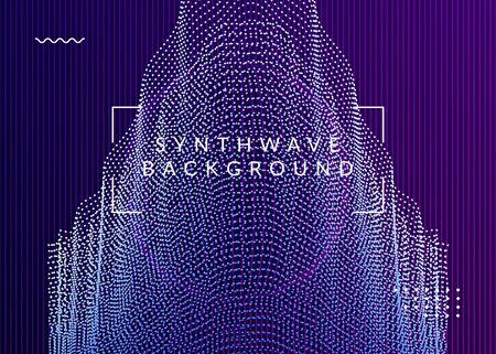 Dj flyer. Digital show magazine layout. Dynamic fluid shape and line. Neon dj flyer. Electro dance music. Electronic sound event. Club fest poster. Techno trance party. Illusztráció