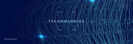 Artificial intelligence. Abstract background. Digital technology, deep learning and big data concept. Tech visual for industry template. Partical artificial intelligence backdrop.