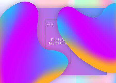 Landing page. Minimal ui, app frame. Holographic 3d backdrop with modern trendy blend. Vivid gradient mesh. Landing page with liquid dynamic elements and fluid shapes. Illusztráció