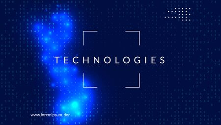 Artificial intelligence. Abstract background. Digital technology, deep learning and big data concept. Tech visual for connection template. Modern artificial intelligence backdrop.