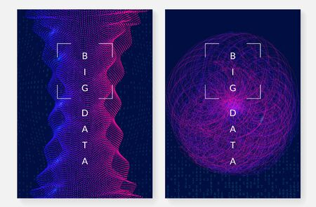 Digital technology abstract background. Artificial intelligence, deep learning and big data concept. Tech visual for communication template. Partical digital technology abstract.