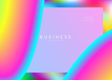 Landing page. Rainbow interface, website design. Holographic 3d backdrop with modern trendy blend. Vivid gradient mesh. Landing page with liquid dynamic elements and fluid shapes.