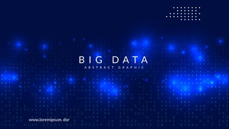 Big data learning. Digital technology abstract background. Artificial intelligence concept. Tech visual for communication template. Futuristic big data learning backdrop.