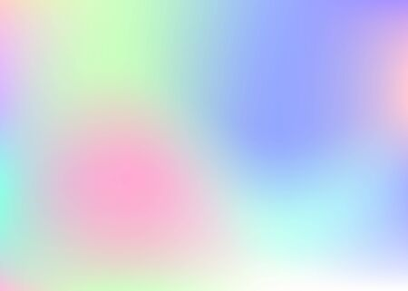 Holographic abstract background. Multicolor holographic backdrop with gradient mesh. 90s, 80s retro style. Pearlescent graphic template for brochure, banner, wallpaper, mobile screen. 版權商用圖片 - 143298887
