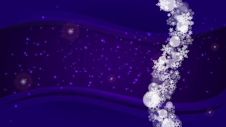 Snow frame with ultra violet snowflakes. New Year backdrop. Winter border for flyer, gift card, invitation, business offer and ad. Christmas trendy background. Holiday snowy banner with snow frame 向量圖像