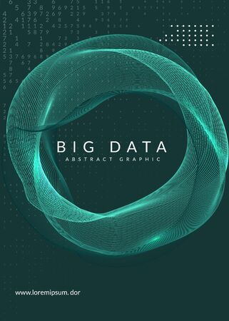 Big data abstract. Digital technology background. Artificial intelligence and deep learning concept. Tech visual for networking template. Partical big data abstract backdrop.