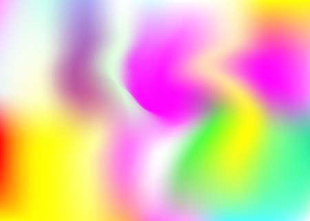 Holographic abstract background. Bright holographic backdrop with gradient mesh. 90s, 80s retro style. Pearle scent graphic template for banner, flyer, cover design, mobile interface, web app. Vectores