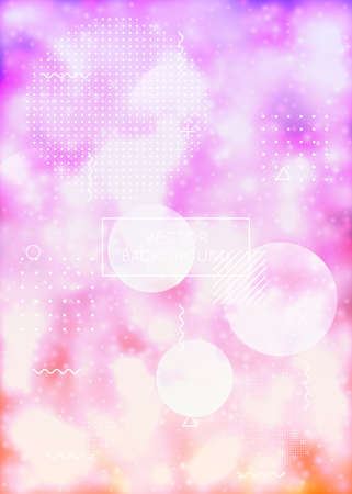 Neon background with liquid purple shapes. Luminous fluid. Fluorescent cover with Bauhaus gradient. Graphic template for book, annual, mobile interface, web app. Trendy neon background.