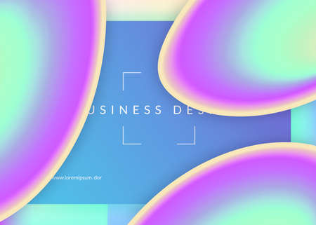 Landing page. Colorful interface, banner layout. Holographic 3d backdrop with modern trendy blend. Vivid gradient mesh. Landing page with liquid dynamic elements and fluid shapes.
