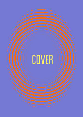 Cool cover template. Minimal trendy with halftone gradients. Geometric cool cover template for flyer, poster, brochure and invitation. Minimalist colorful shapes. Abstract illustration. Vectores